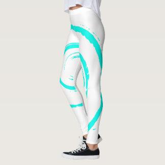 All Over Print Leggings with Aqua Twirl