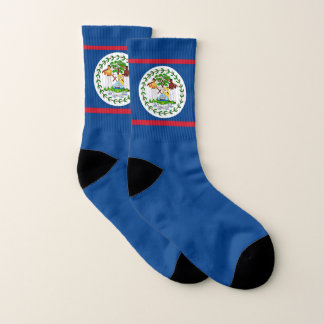 All Over Print Socks with Flag of Belize 1