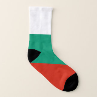 All Over Print Socks with Flag of Bulgaria