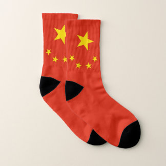 All Over Print Socks with Flag of China 1