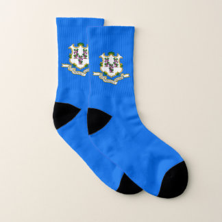 All Over Print Socks with Flag of Connecticut