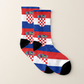 All Over Print Socks with Flag of Croatia 1