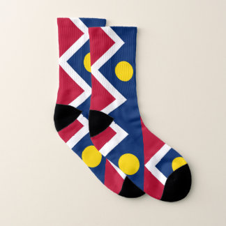 All Over Print Socks with Flag of Denver 1