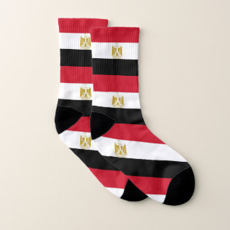 All Over Print Socks with Flag of Egypt 1