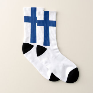 All Over Print Socks with Flag of Finland 1