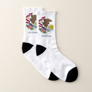 All Over Print Socks with Flag of Illinois 1