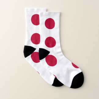 All Over Print Socks with Flag of Japan 1