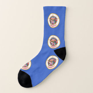 All Over Print Socks with Flag of Minnesota