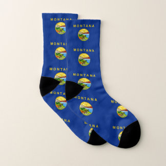 All Over Print Socks with Flag of Montana