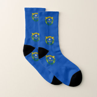 All Over Print Socks with Flag of Nevada 1