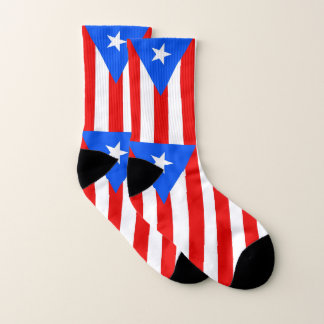 All Over Print Socks with Flag of Puerto Rico 1