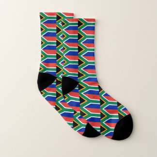 All Over Print Socks with Flag of South Africa 1