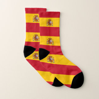 All Over Print Socks with Flag of Spain 1