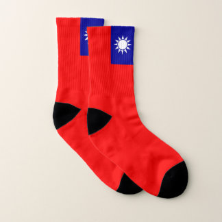 All Over Print Socks with Flag of Taiwan 1