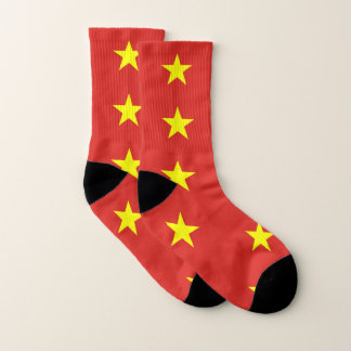 All Over Print Socks with Flag of Vietnam 1