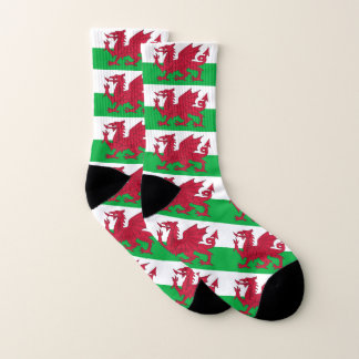 All Over Print Socks with Flag of Wales