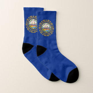 All Over Print Socks with New Hampshire Flag 1
