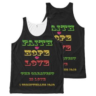 All Over Print Tank ~ Faith Hope Love