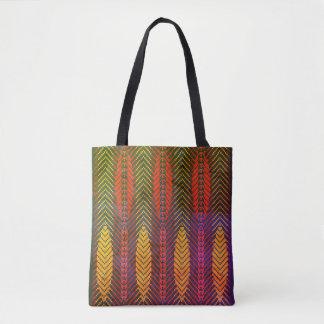 All Over Print Tote bag in Leaf Design