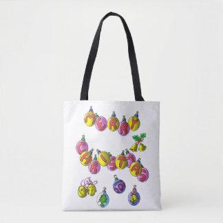 All-Over-Print Tote Bag, Merry Christmas
