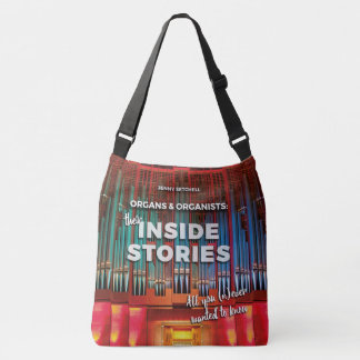 All-over print tote with cover of organ book