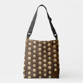 All-over print tote with organ stops
