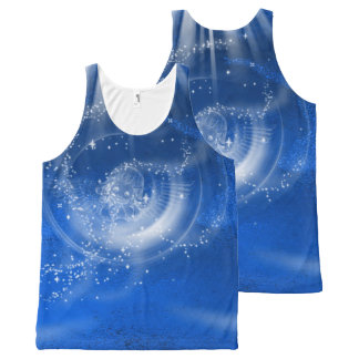 All-Over Printed Tank-Blue, made of stars, abstrac All-Over Print Tank Top