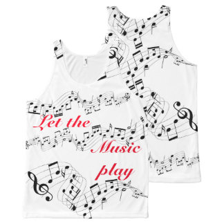 All-Over Printed Unisex Tank-Let the music play All-Over Print Tank Top