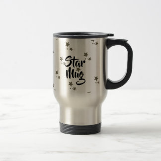 All over star mug with gold sparkling stars