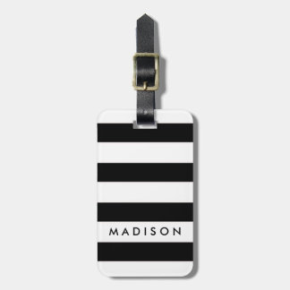 All Over Stripes Name Luggage Tag