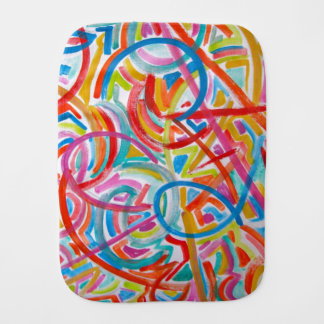 All Paths End There- Abstract Art Hand Painted Burp Cloth