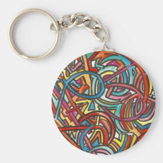 All Paths End There-Abstract Art Hand Painted Key Ring