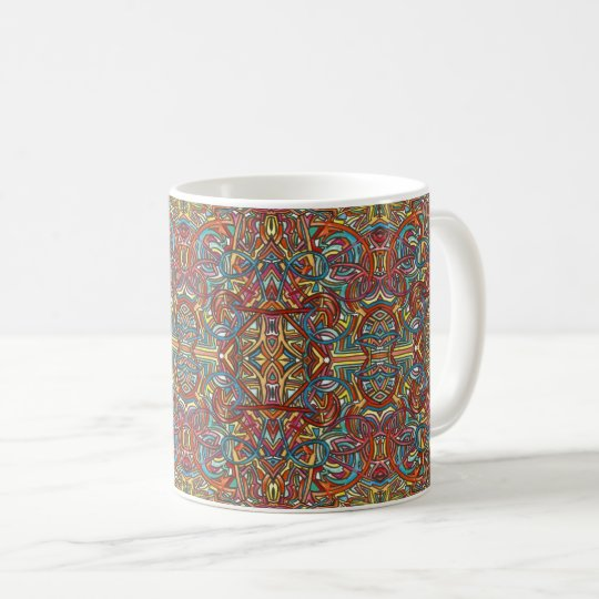 All Paths End There-Hand Painted Abstract Pattern Coffee Mug