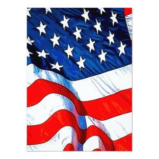 All Patriotic 14 Cm X 19 Cm Invitation Card
