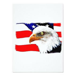 "All Patriotic 5.5"" X 7.5"" Invitation Card"