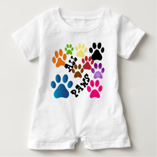 All Paws Baby Romper Baby Bodysuit