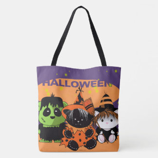 ALL PETS MONSTERS HALLOWEEN TOTE BAG