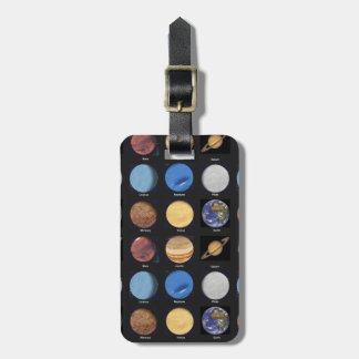 All Planets Science Photos With Names Luggage Tag