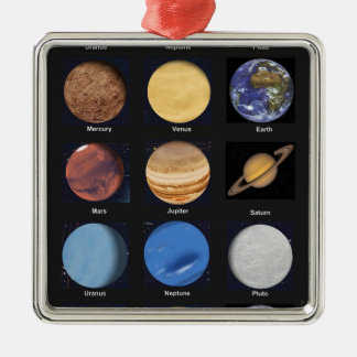 All Planets Science Photos With Names Metal Ornament