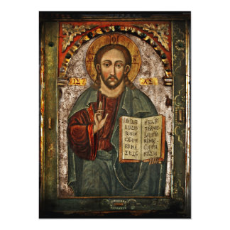 All Powerful Christ - Chrystus Pantokrator 14 Cm X 19 Cm Invitation Card