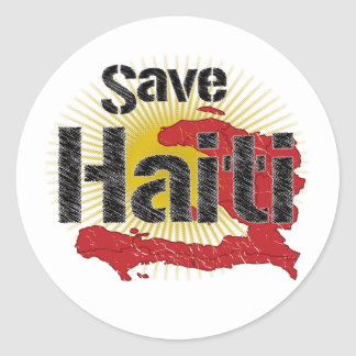 ALL Proceeds go to RED CROSS - Save Haiti Round Sticker