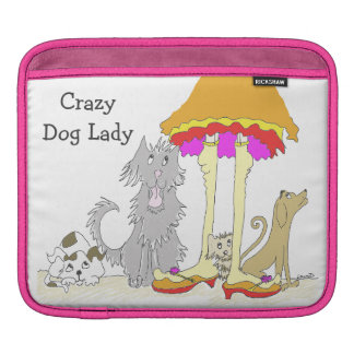 All Proceeds to Animal Charity Crazy Dog Lady Sleeve For iPads