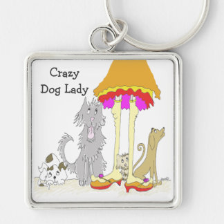 All Proceeds to Animal Charity Crazy Dog Lady Keychain