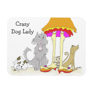 All Proceeds to Animal Charity Crazy Dog Lady Magnet