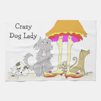 All Proceeds to Animal Charity Crazy Dog Lady Hand Towels