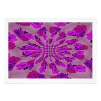 All purple burst pattern of a single repeated rose custom invites