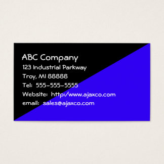 All Purpose Business Card Black and Royal Blue