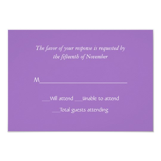 All Purpose Mauve Response Card
