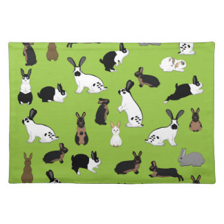 All rabbits placemat