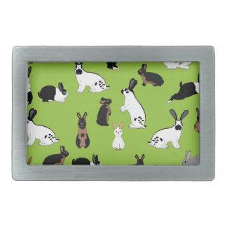 All rabbits rectangular belt buckle
